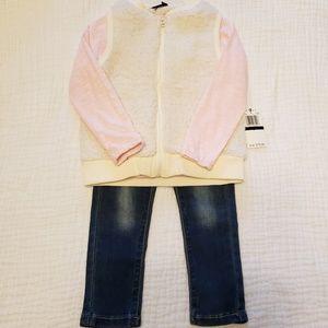 Seven for all Mankind Girls 3 peice Vest Jeans Set